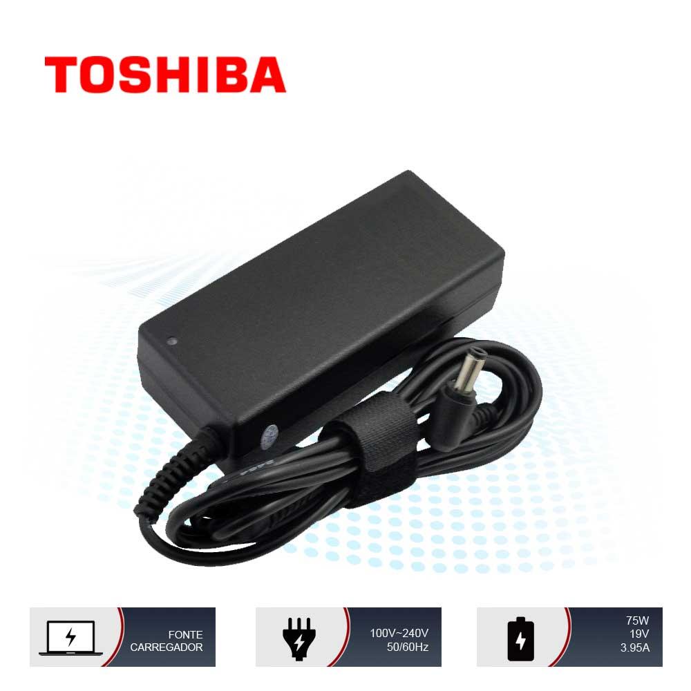 Fonte Carregador Notebook Adp-75sb Ab Toshiba Satellite 19v 3.95a 75w 5.5mm x 2.5mm