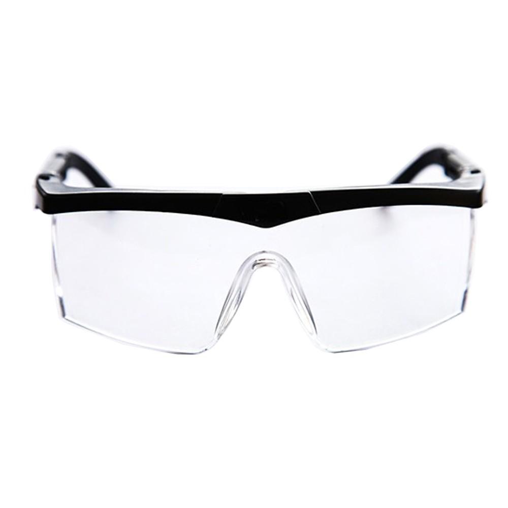 Kit 10un Óculos de Proteção Anti Gotículas Incolor Ajustável