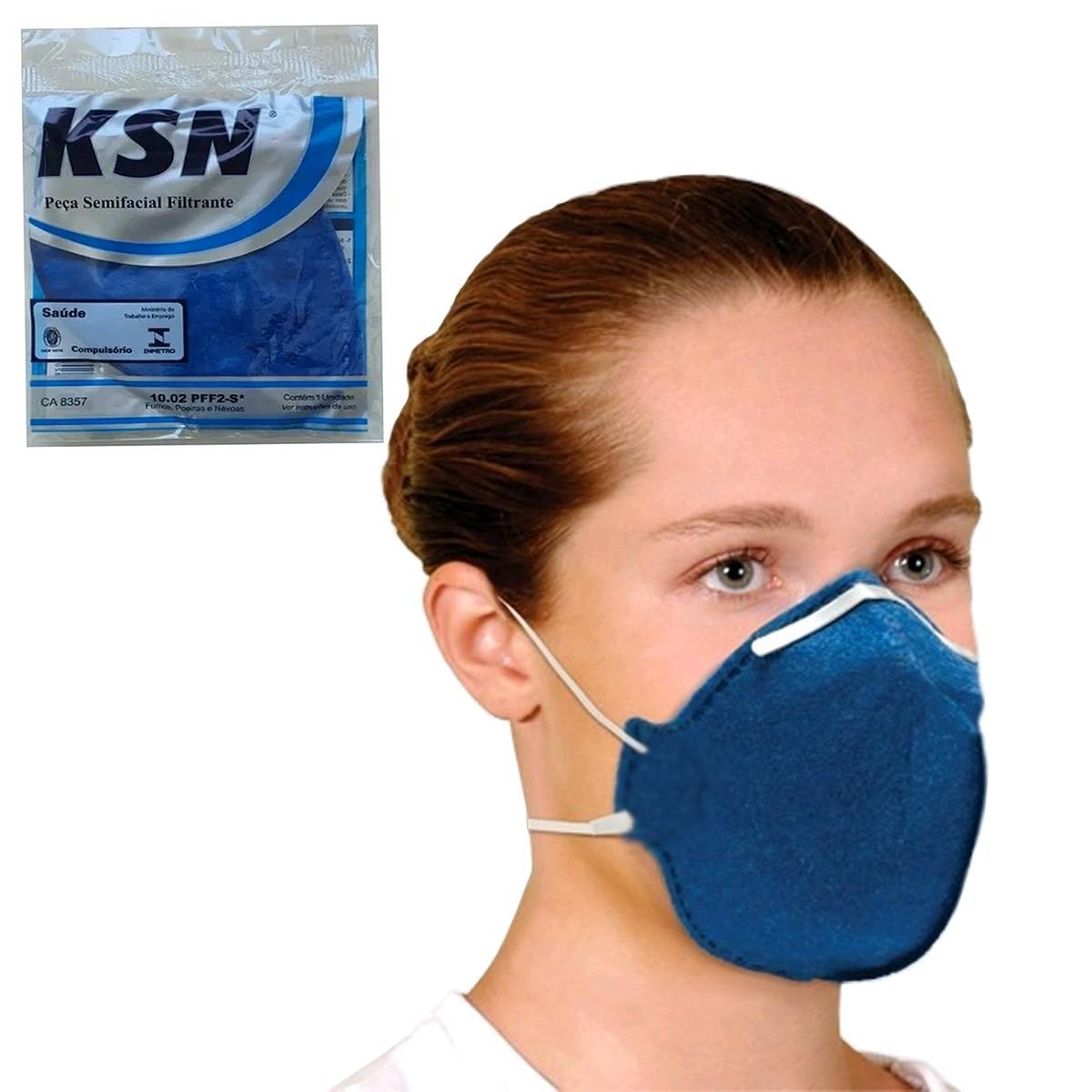 Kit 50un Máscara De Proteção Hospitalar Ksn N95 PFF2 Anvisa