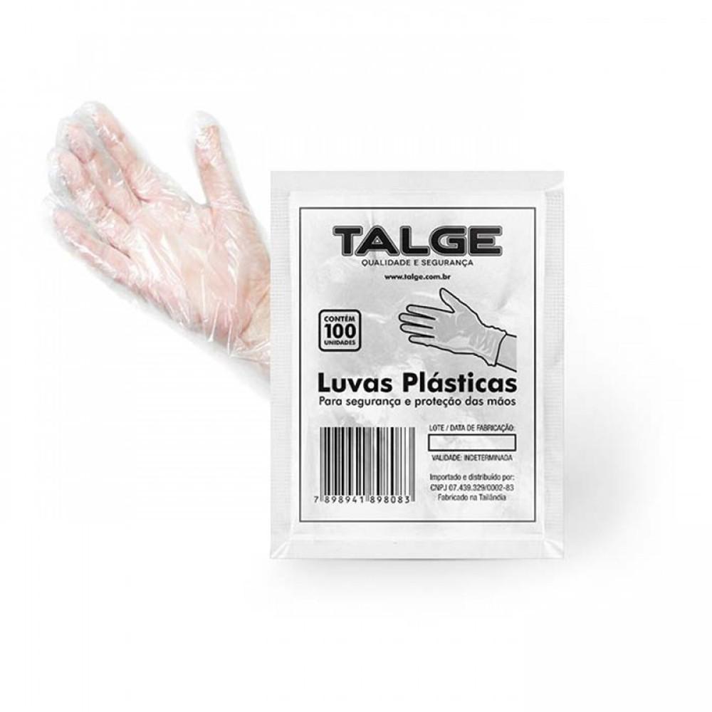 Luvas Plásticas Descartáveis Proteção Polietileno 500un