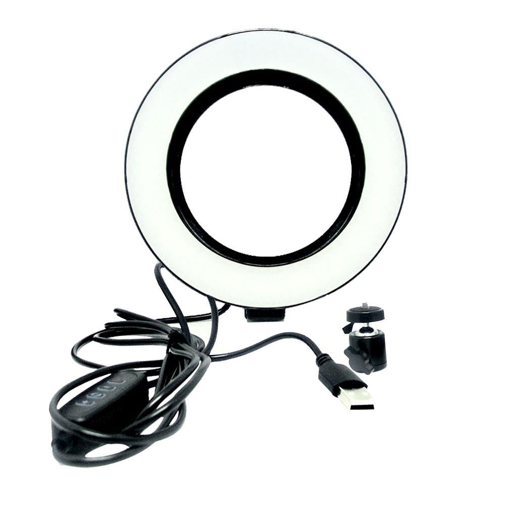 Luz Iluminador Ring Light 6 Polegadas Articulado Controle Led Usb KP-PL16
