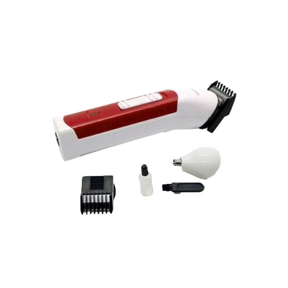 Máquina 3 Em 1 Multifuncional Nhc-2011 Nova Aparador Cabelo Barba Nariz Vermelho