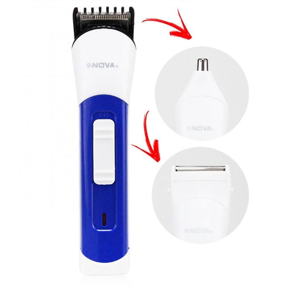 Máquina Cabelo 3 Em 1 Multifuncional Aparador Barba Nariz