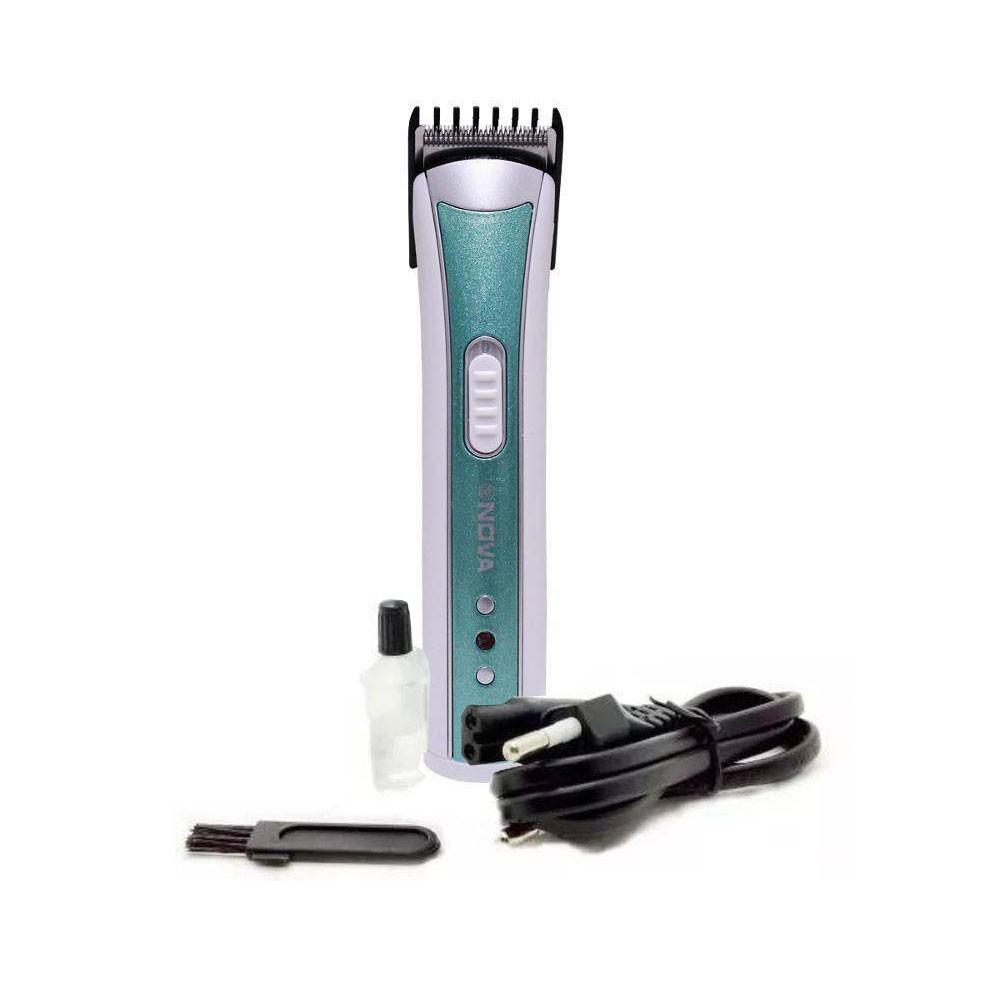 Máquina Multifuncional NHC-3780 Nova Aparador Cabelo Barba Bigode Verde