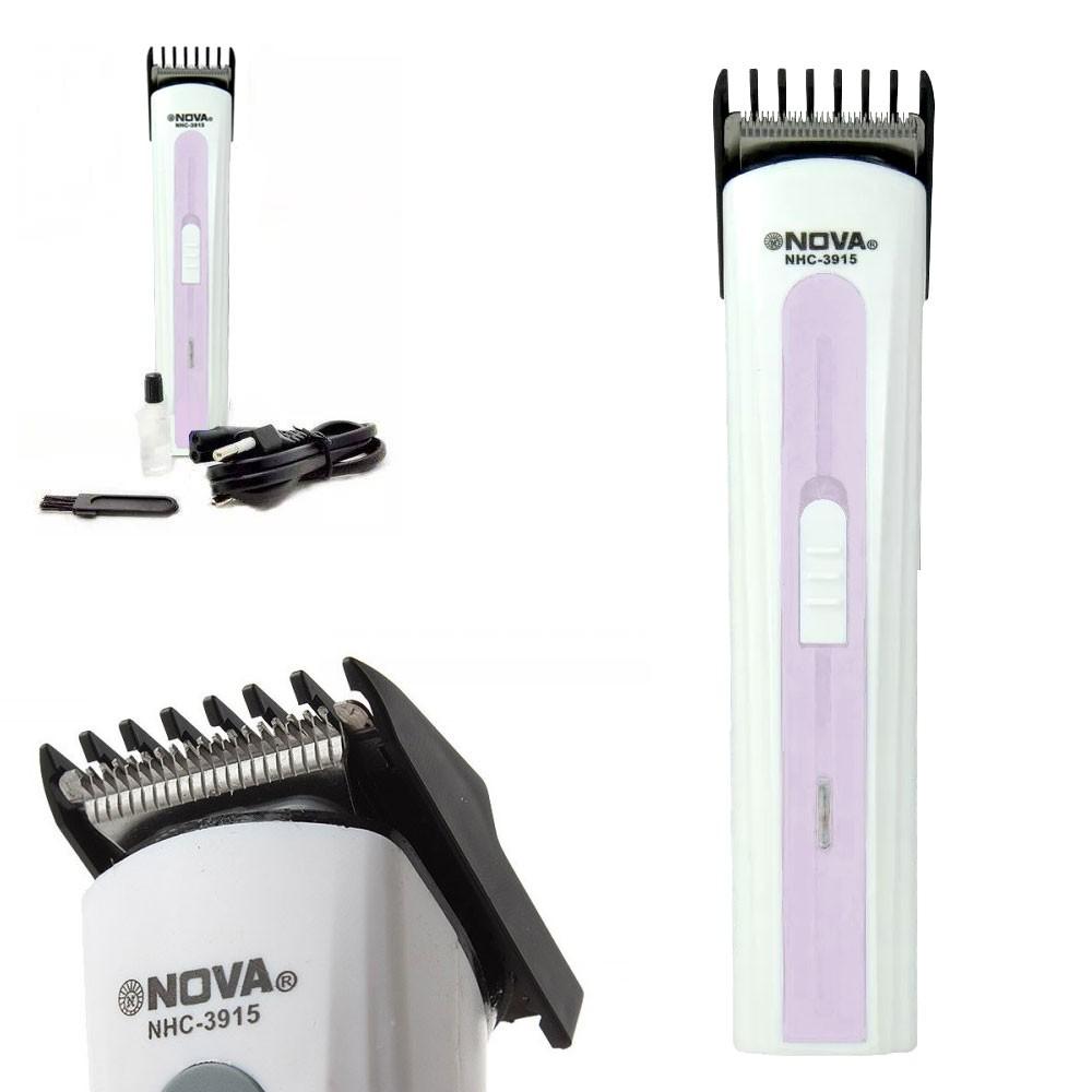 Máquina Multifuncional NHC-3915 Nova Aparador Cabelo Barba Bigode Lilás