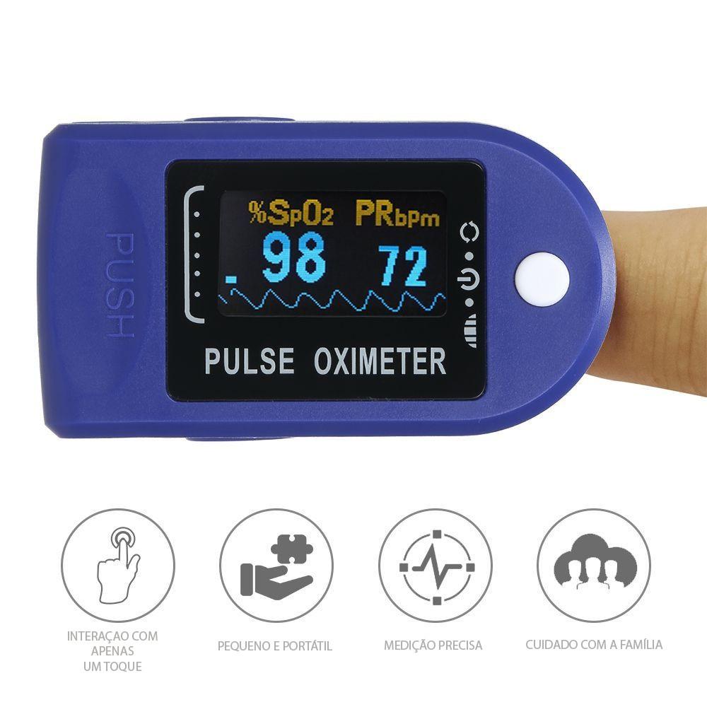 Medidor De Dedo Frequência Cardíaca e Oxigênio Display Led