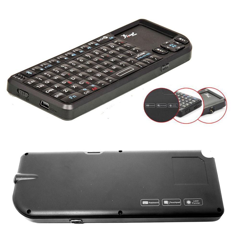 Mini Teclado Bluetooth Com Touchpad Kp-2039 Knup Sem Fio Com Laser Point Teclas Multimídia
