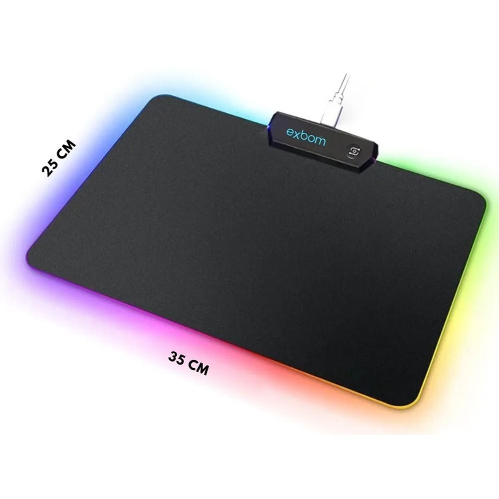 Mouse Pad Gamer Com Bordas Led 11 Efeitos Especiais On/Off