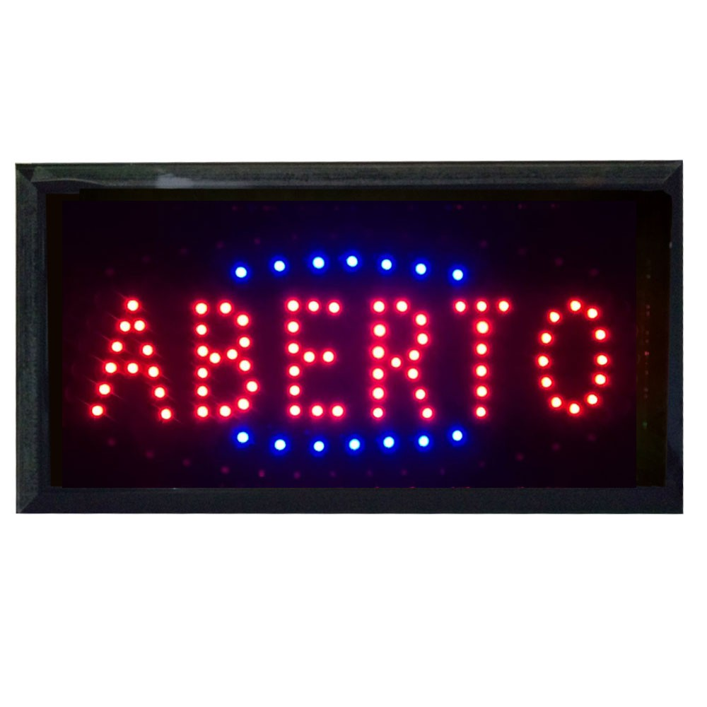 Painel Letreiro Luminoso de Led Aberto Le-2001 Lelong  Comércio Pisca Led
