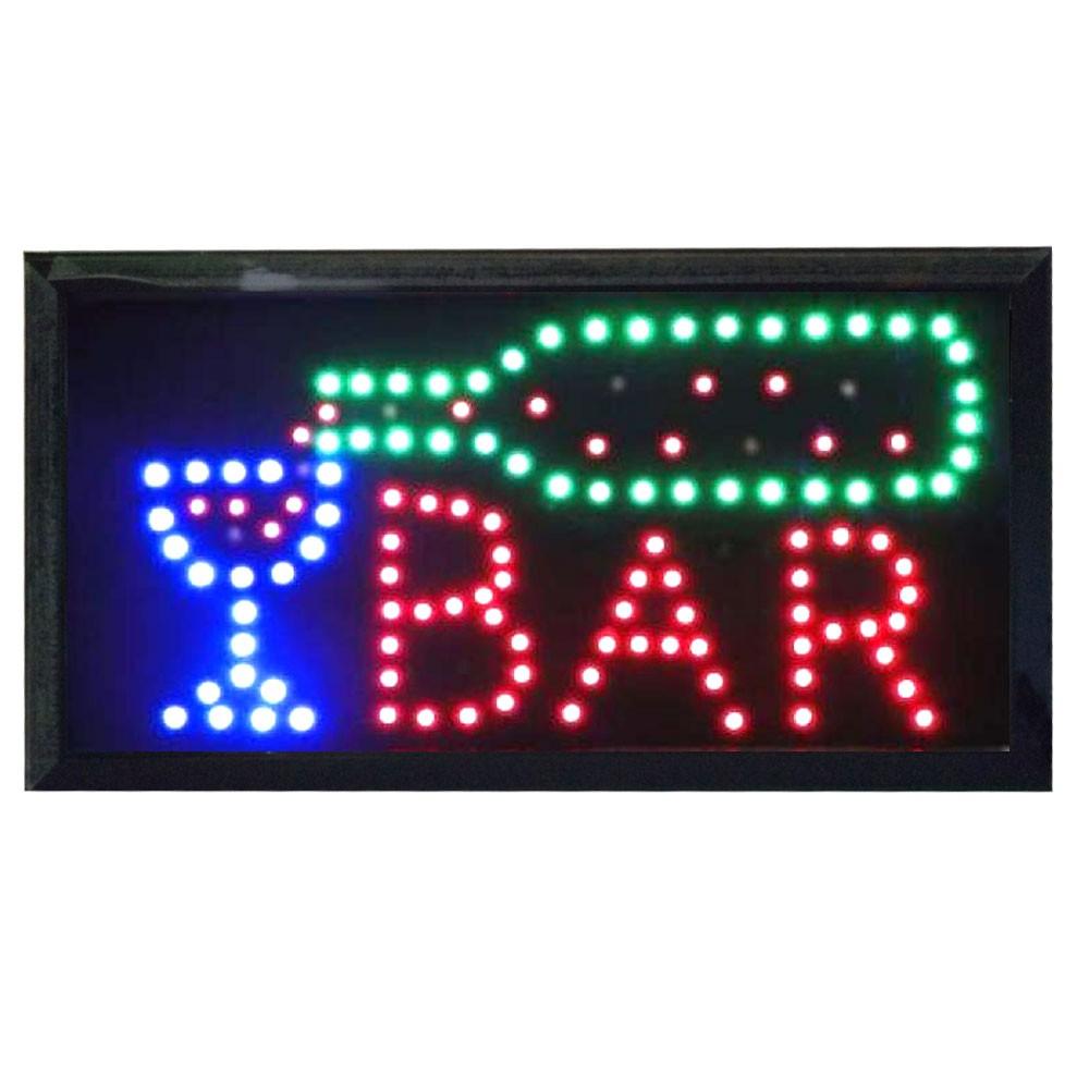 Painel Letreiro Luminoso de Led Bar Le-2004 Lelong Placa