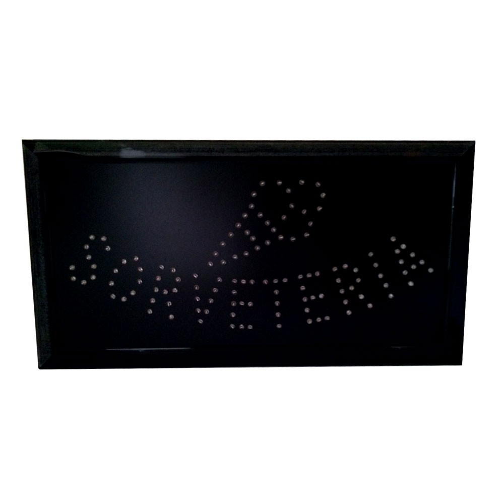 Painel Letreiro Luminoso de Led Sorveteria Le-2012 Lelong Placa Pisca Led