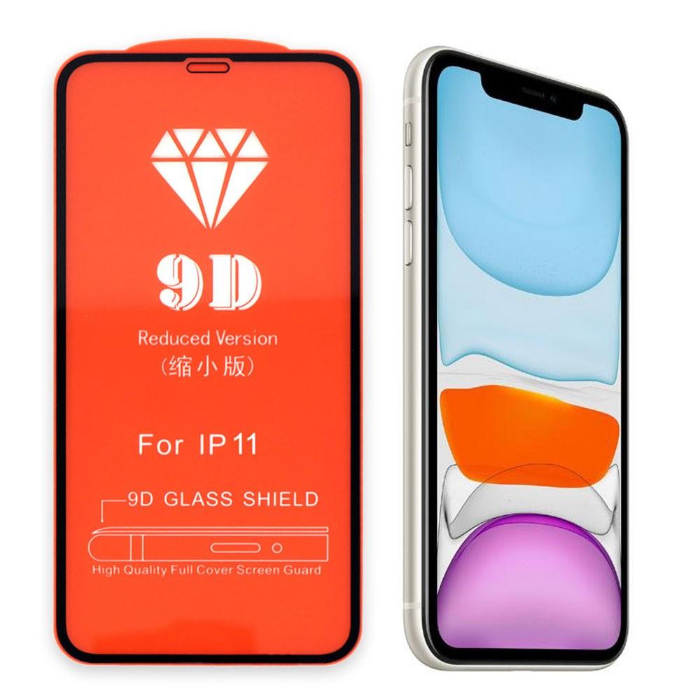 Película 5D de Vidro Proteção Para Iphone 11 Celular Smartphone Preta