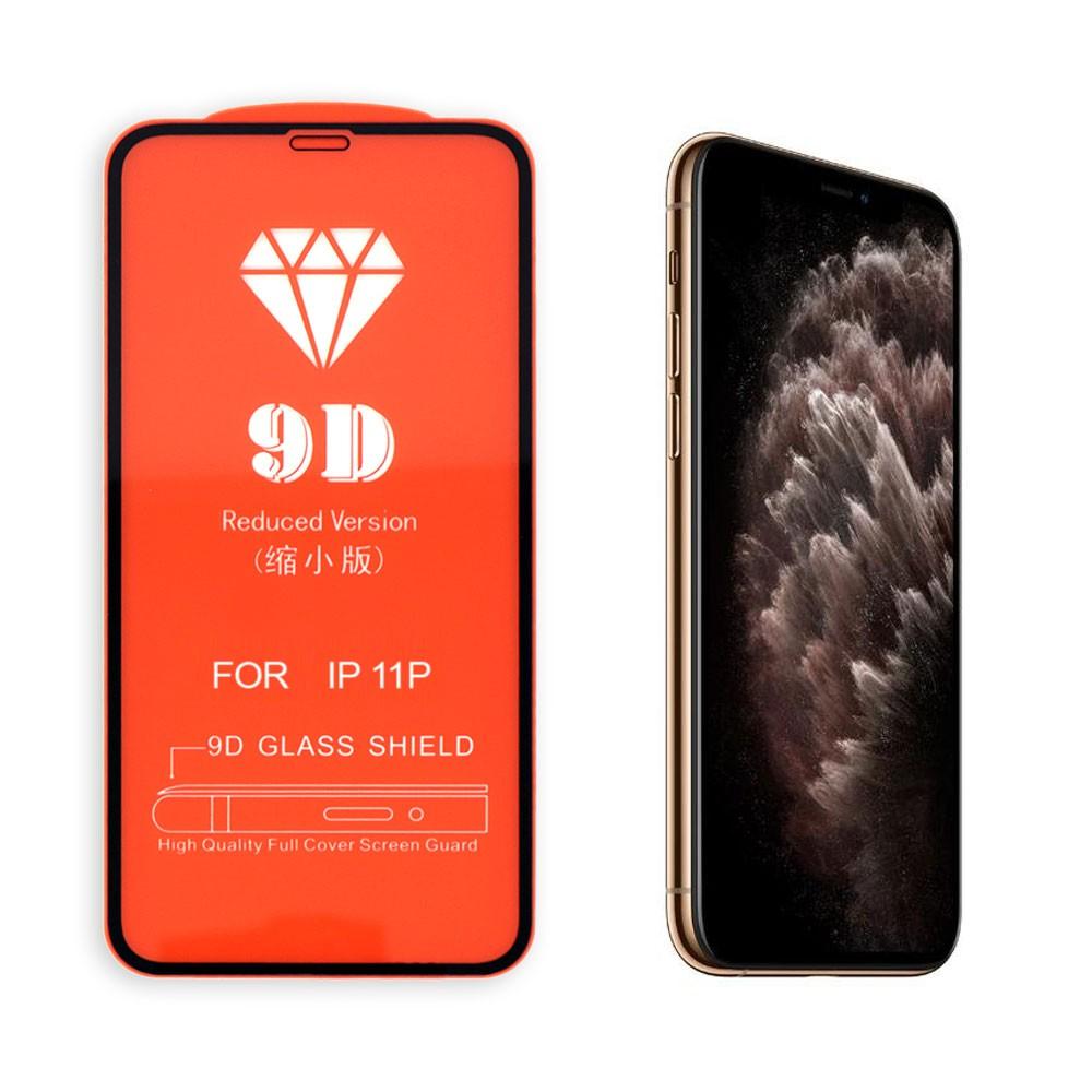 Película 5D de Vidro Proteção Para Iphone 11 Pro Celular Smartphone Preta