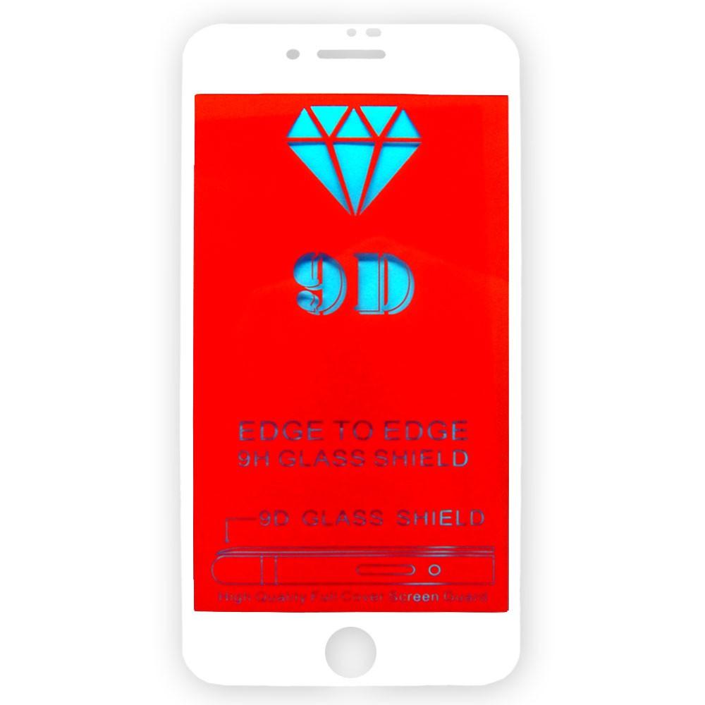 Película 5D de Vidro Proteção Para Iphone 7 Plus e 8 Plus Celular Smartphone Branca