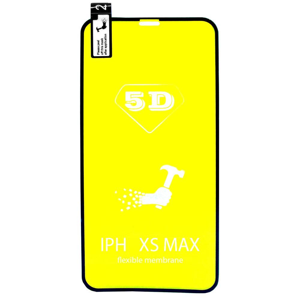 Película 5d Nano Gel Proteção Para Iphone XS Max Celular Smartphone Preta
