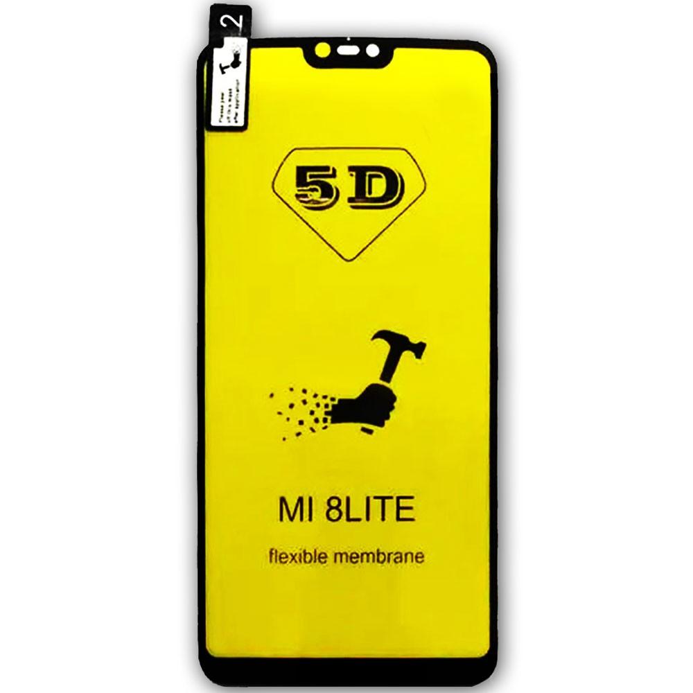 Película 5d Nano Gel Proteção Para Xiaomi Mi 8 Lite Celular Smartphone Preta