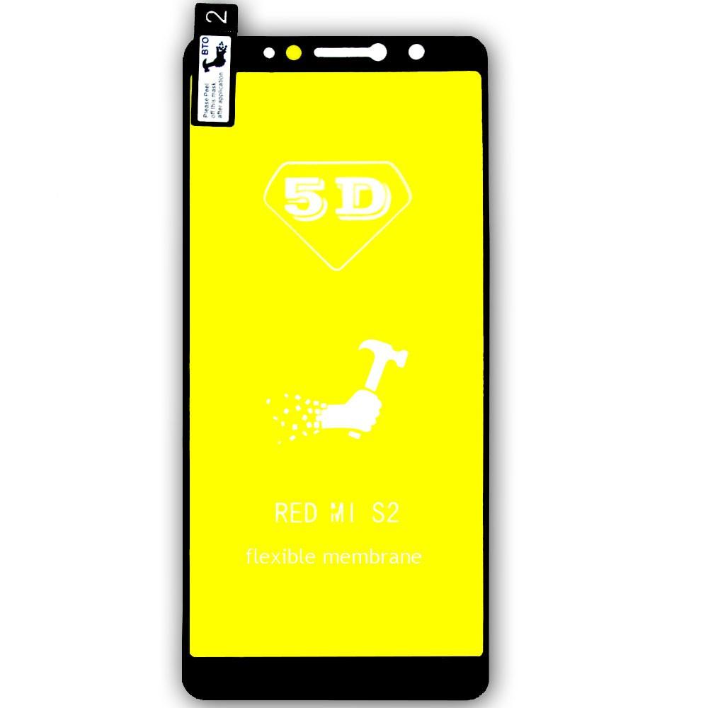 Película 5d Nano Gel Proteção Para Xiaomi Redmi S2 Celular Smartphone Preta