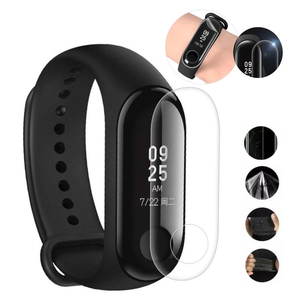 Película de Gel Protetora Para Relógio Xiaomi Mi Band 3 Smartwatch