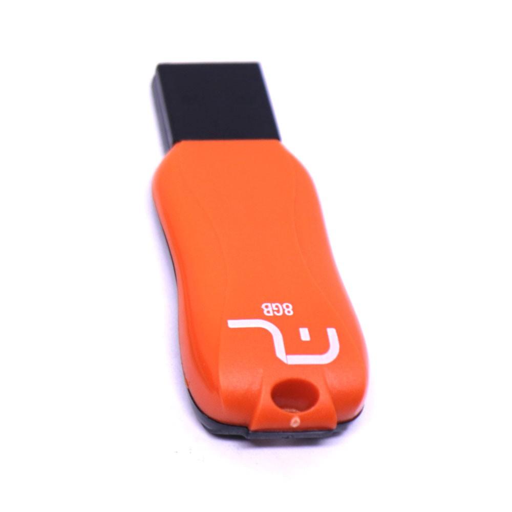 Pen Drive Smartogo Titan Colors 8GB USB 2.0 PD517 Multilaser Alta Durabilidade Compacto Laranja