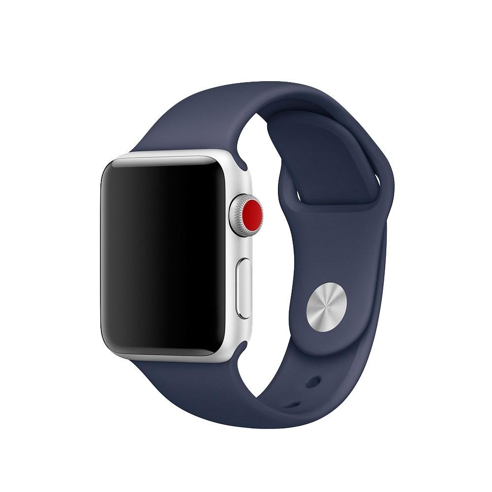 Pulseira Esporte Silicone Para Apple Watch 38mm Series Azul Meia Noite