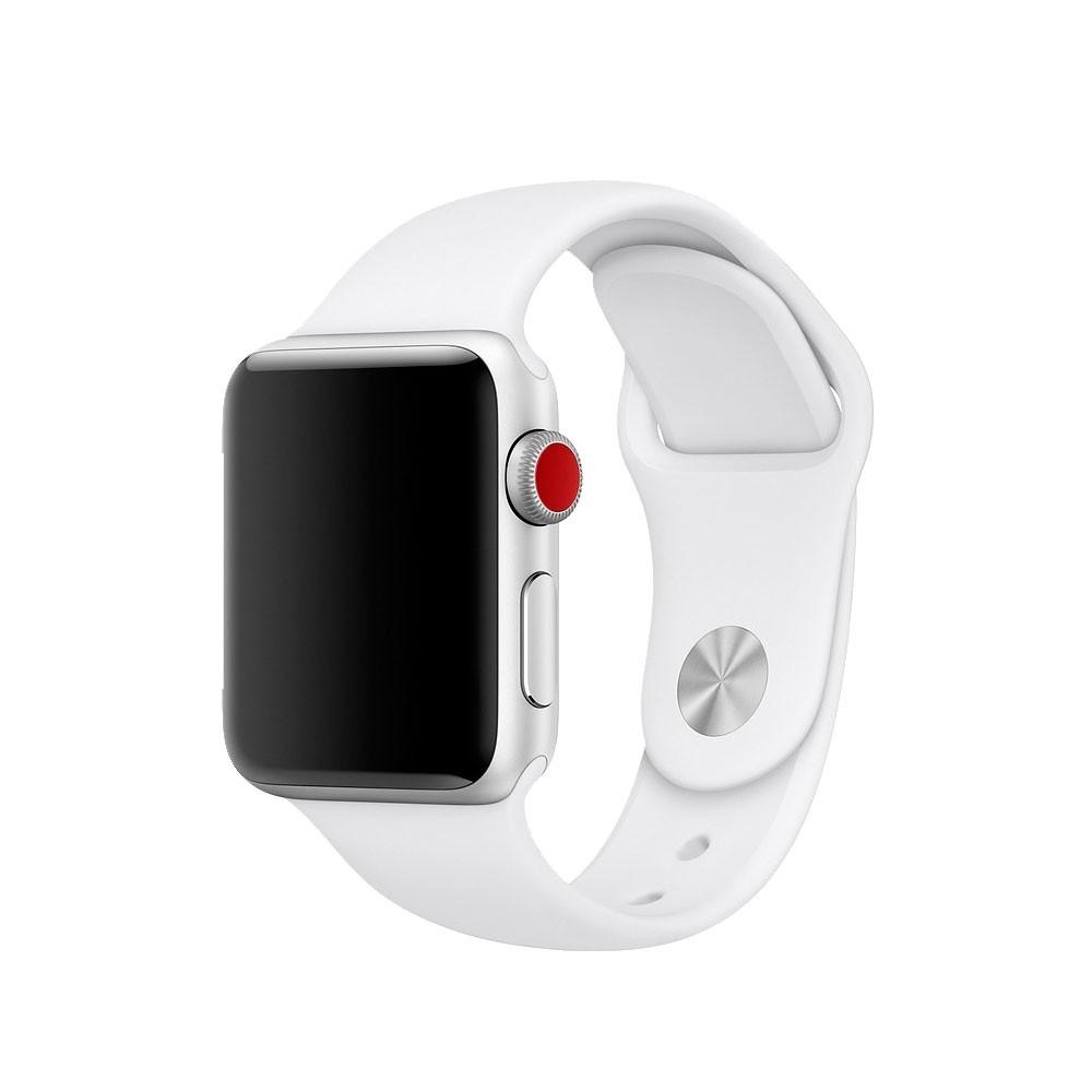 Pulseira Esporte Silicone Para Apple Watch 38mm Series Branca