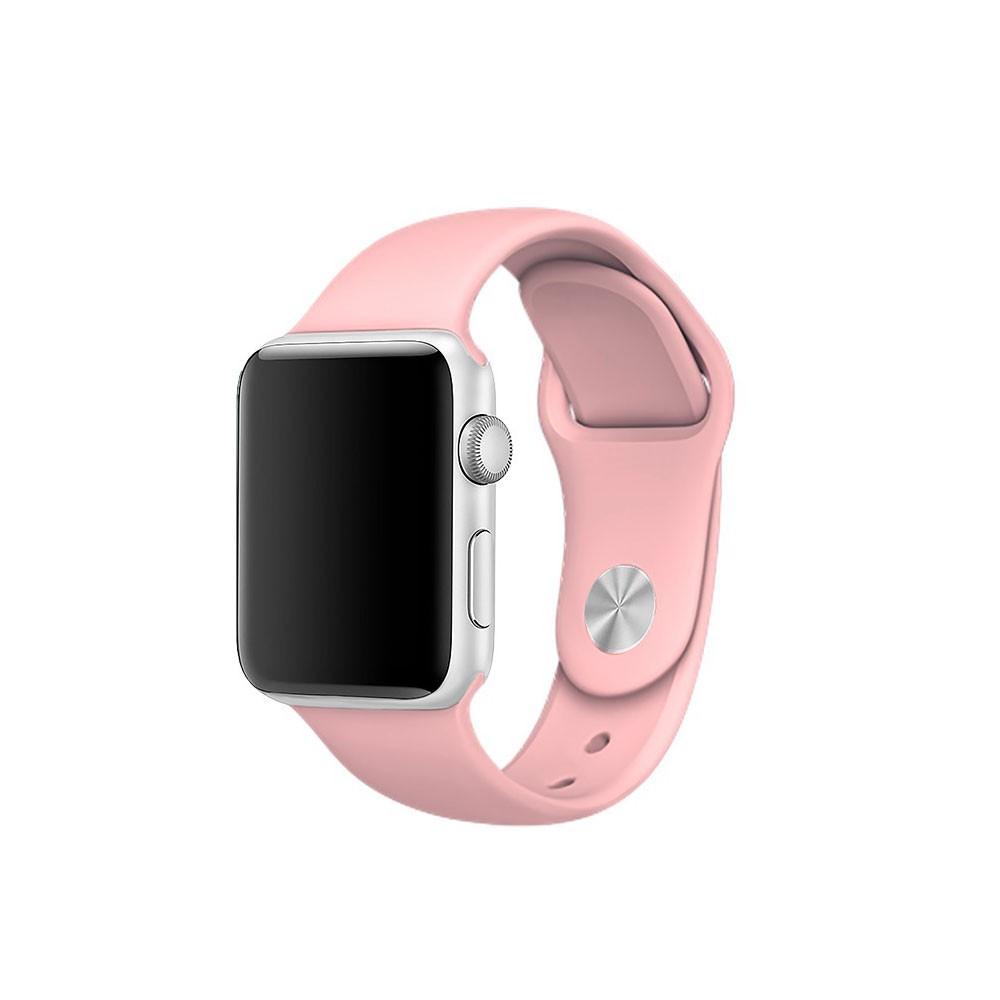 Pulseira Esporte Silicone Para Apple Watch 38mm Series Rosa Bebê