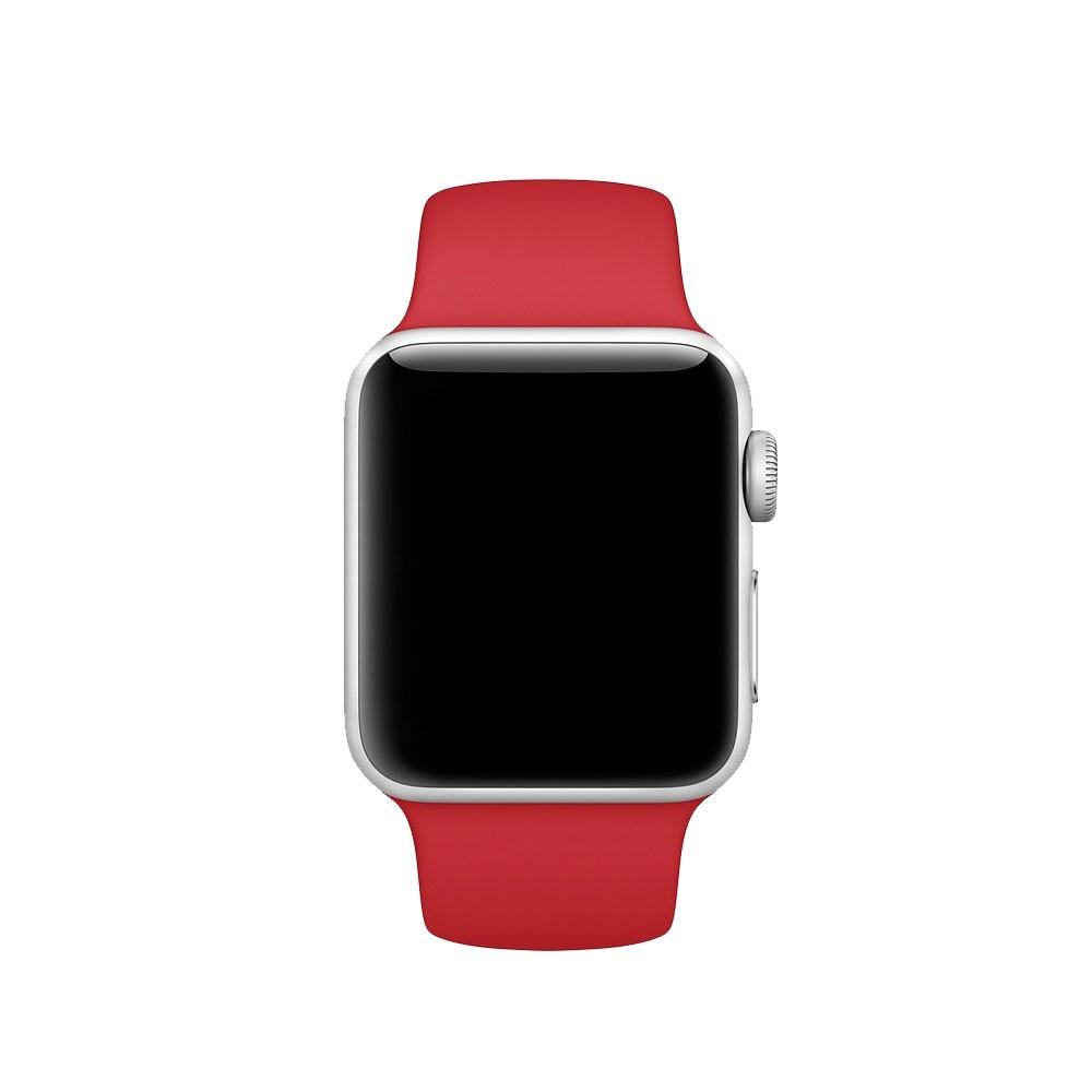 Pulseira Esporte Silicone Para Apple Watch 38mm Series Vermelha