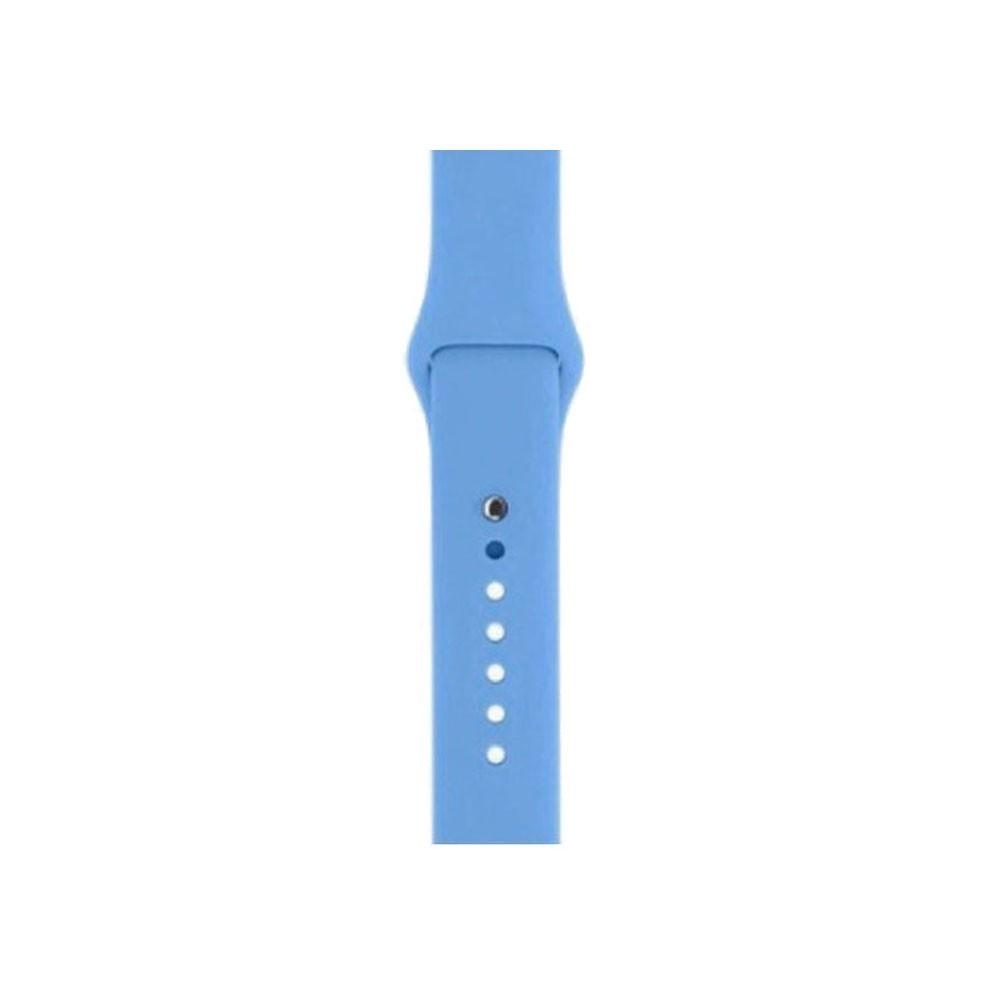 Pulseira Esporte Silicone Para Apple Watch 42mm Series Azul