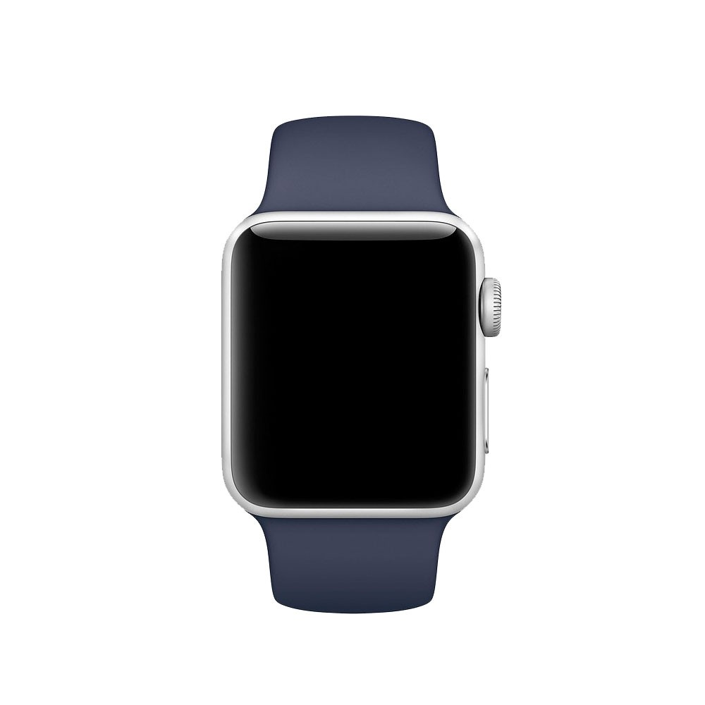 Pulseira Esporte Silicone Para Apple Watch 42mm Series Azul Meia Noite