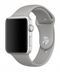 Pulseira Esporte Silicone Para Apple Watch 42mm Series Cinza