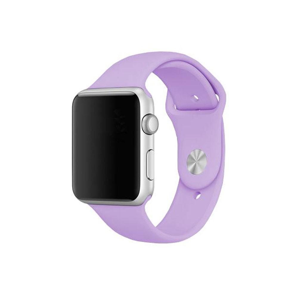 Pulseira Esporte Silicone Para Apple Watch 42mm Series Lilás