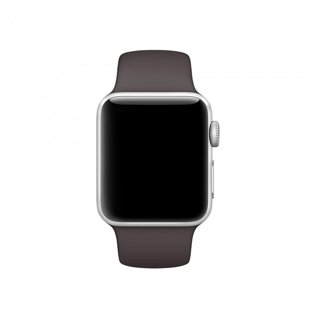 Pulseira Esporte Silicone Para Apple Watch 42mm Series Marrom Escuro