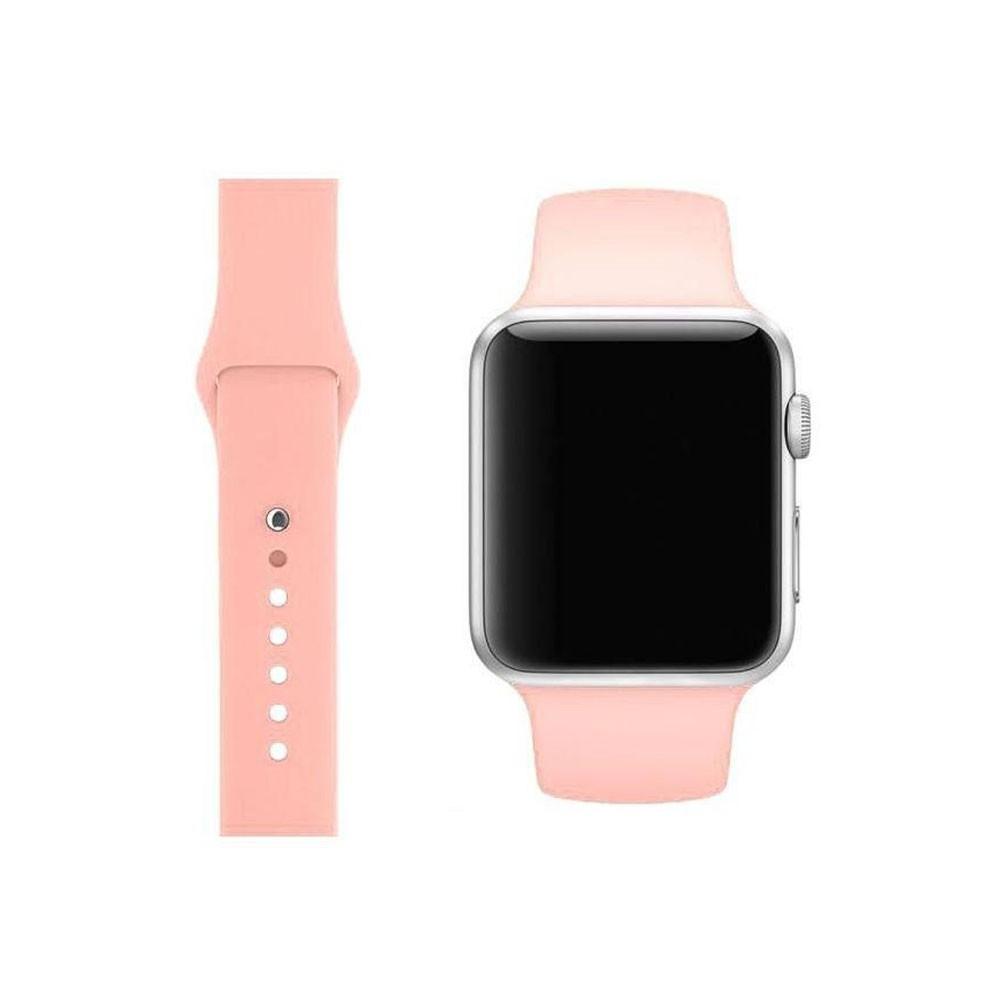 Pulseira Esporte Silicone Para Apple Watch 42mm Series Rosa