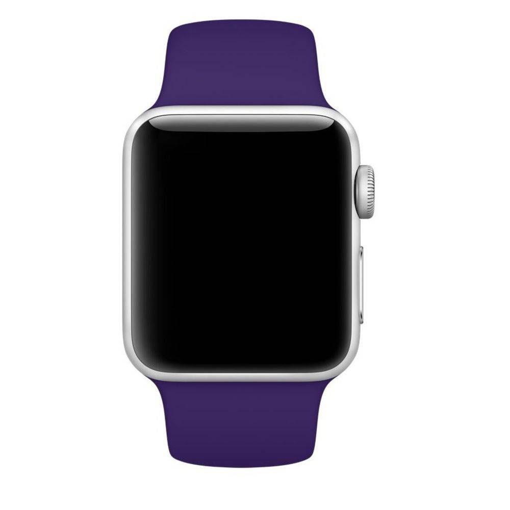 Pulseira Esporte Silicone Para Apple Watch 42mm Series Violeta