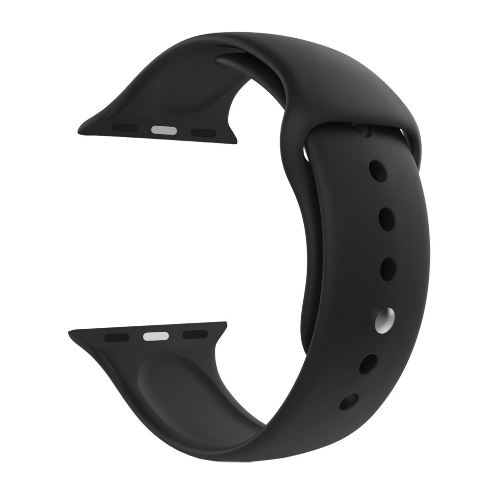 Pulseira Esporte Silicone Para Relógio Apple Watch 38mm Series 1 2 e 3 Preta