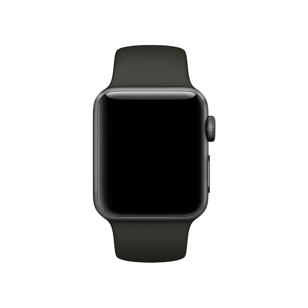 Pulseira Esporte Silicone Para Relógio Apple Watch 42mm Series 1 2 e 3 Preta