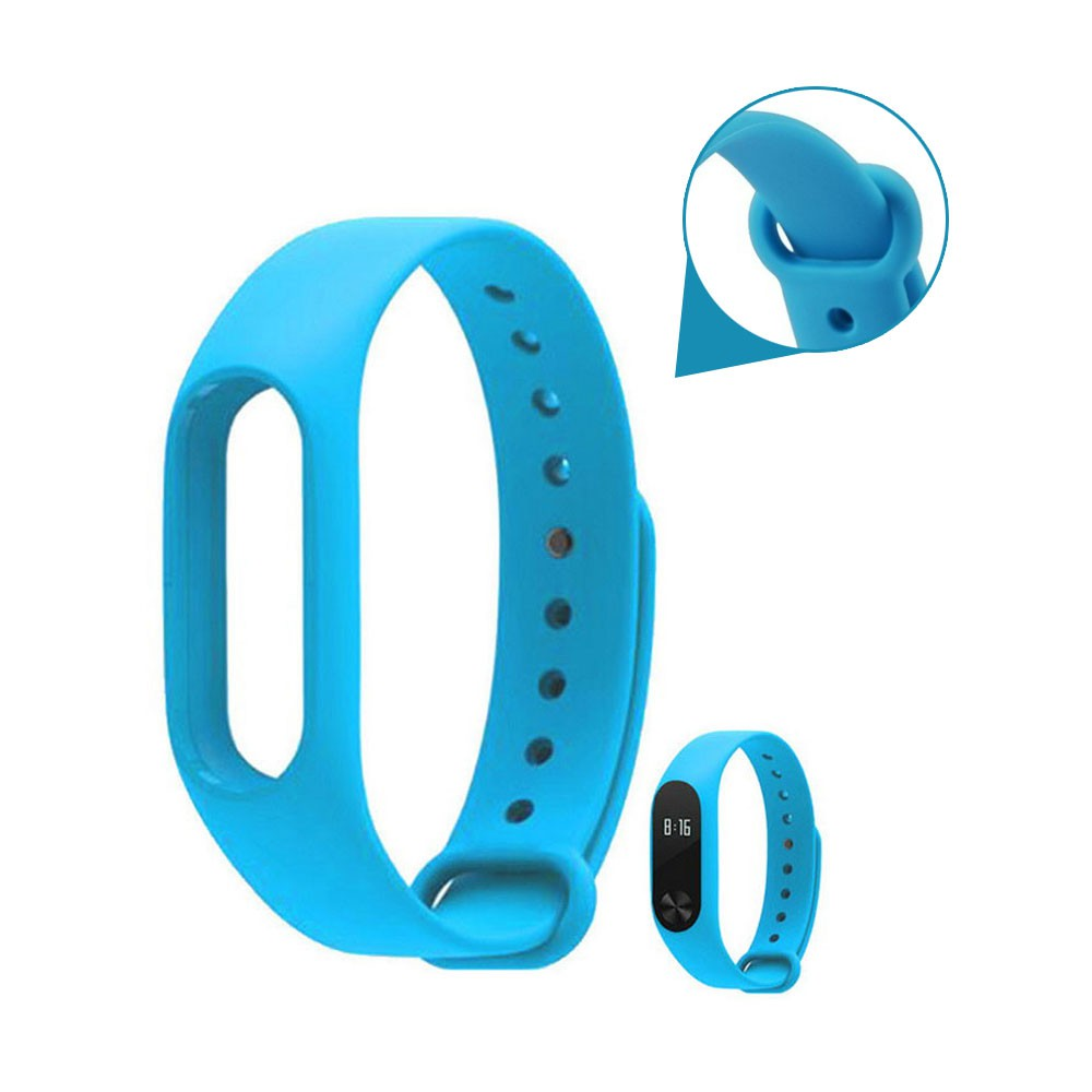 Pulseira Lisa Para Relógio Inteligente Mi Band 2 Xiaomi Smartwatch Silicone Alça Ajustável  Azul Piscina