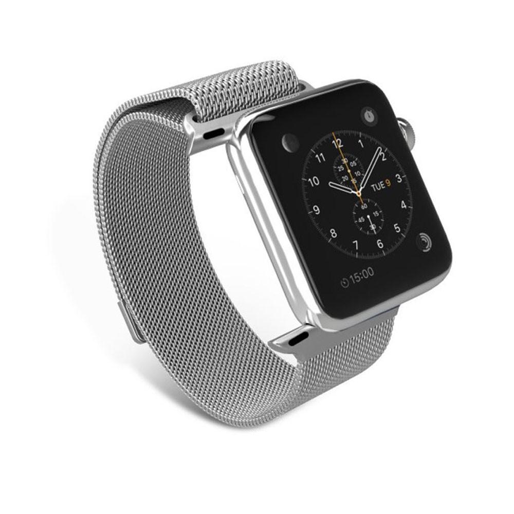 Pulseira Milanês Milanese Aço Loop Metal Apple Watch Series 4 40mm Prata