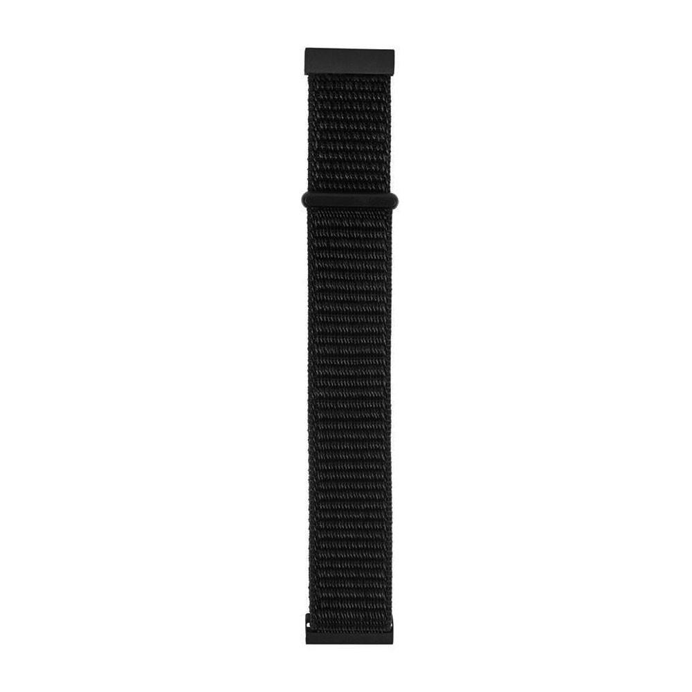 Pulseira Nylon 20mm Para Gear Xiaomi Amazfit Bip Stratos Pace Q9 Preto