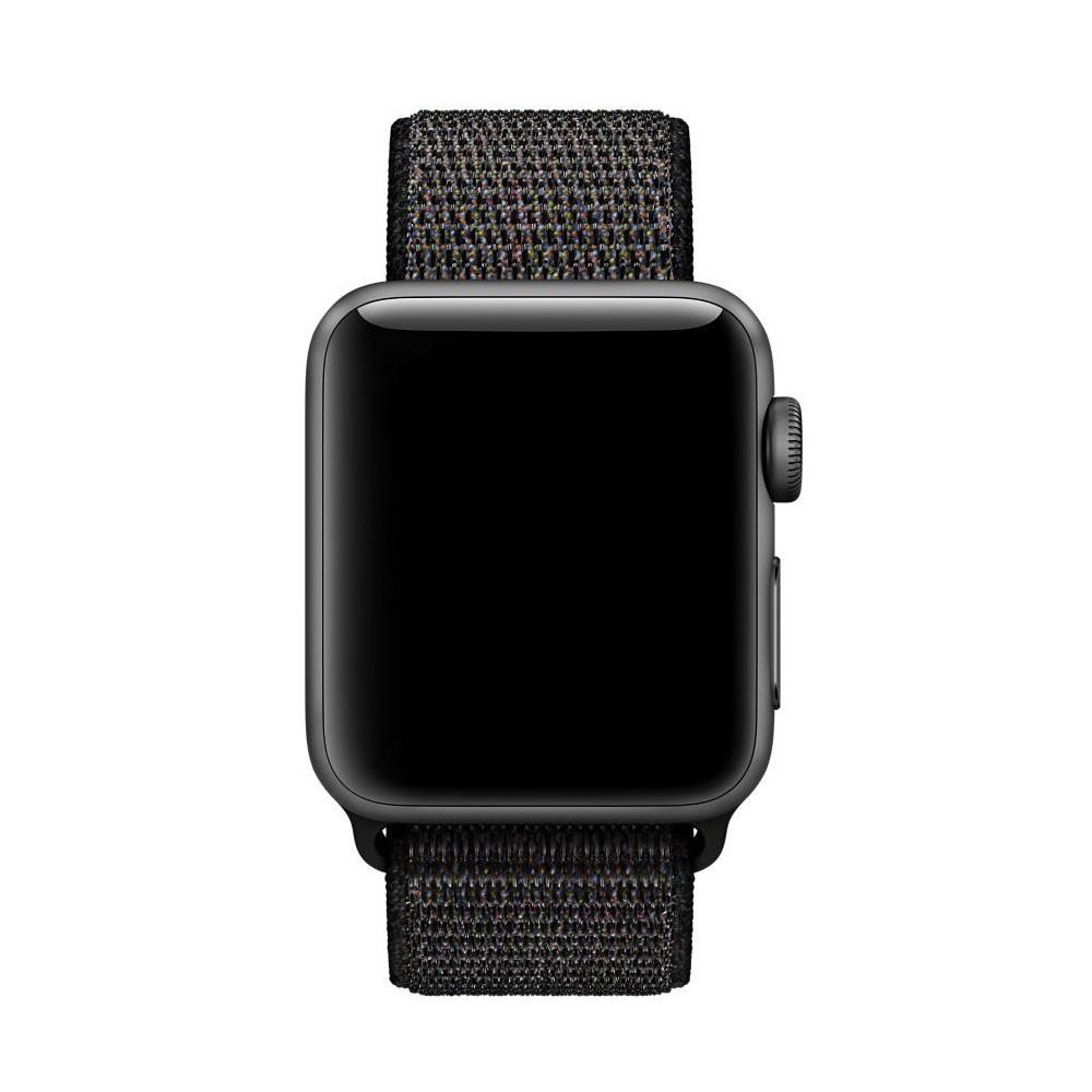 Pulseira Nylon Loop Esportiva Sport 38mm Para Apple Watch Preta