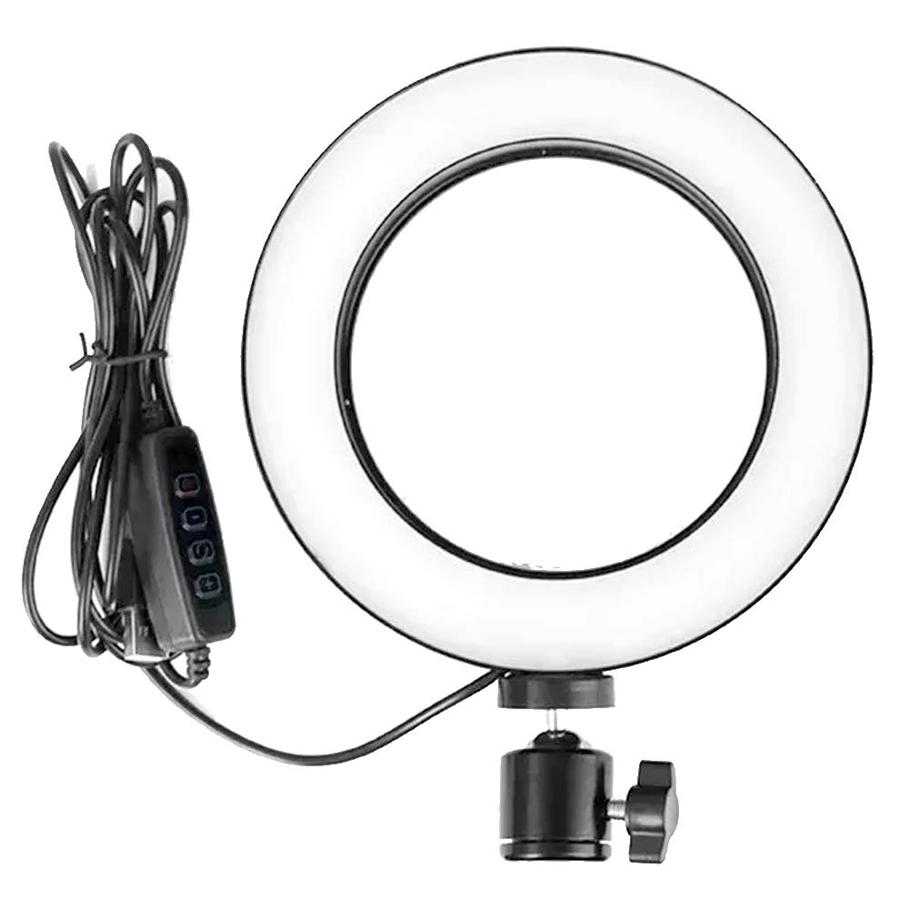 Ring Light Iluminador Led Tripe Usb 20cm 8 polegadas Luz Aro