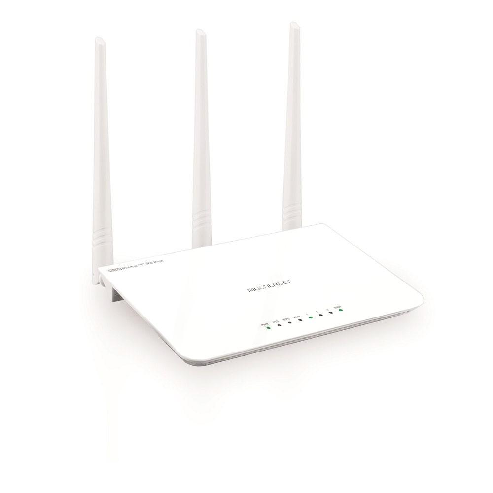 Roteador Wireless 300Mpbs Ipv6 Re163V Multilaser com 3 Antenas 5dBi Wifi N Controle Parental