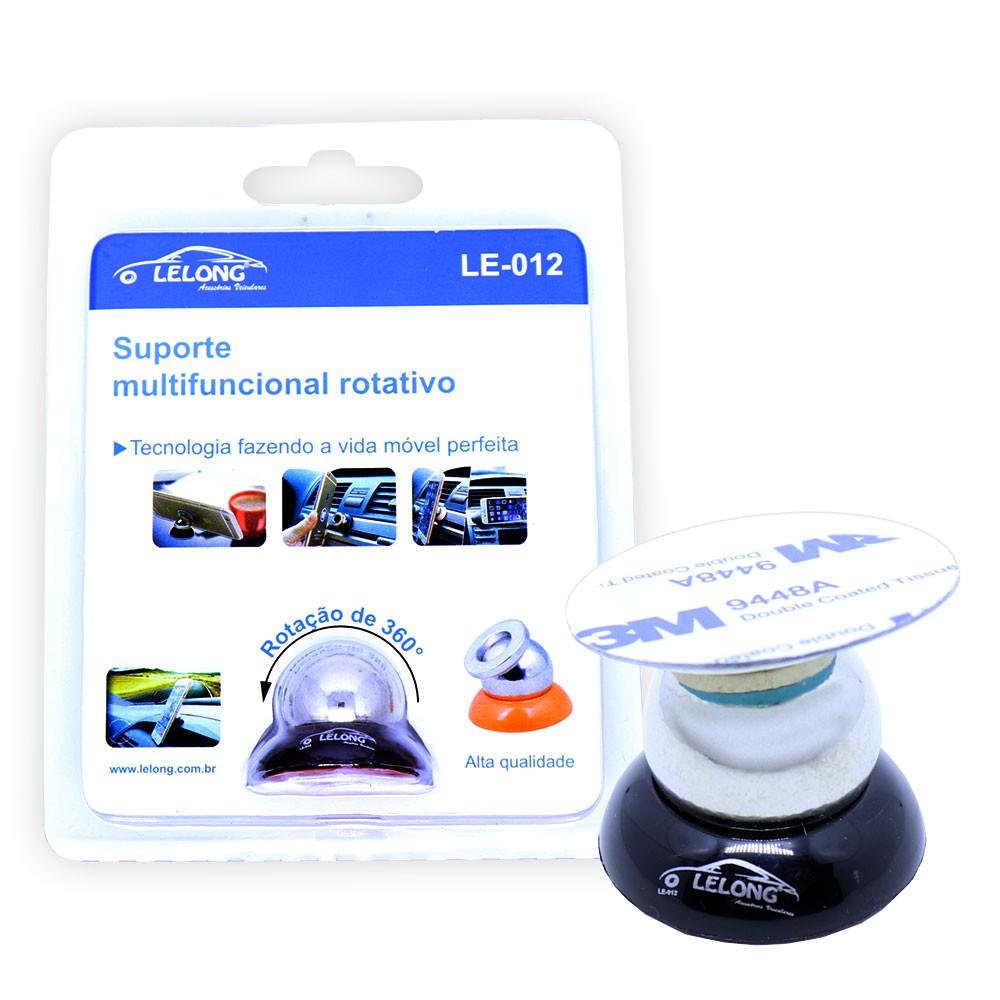 Suporte Magnético Veicular Para Celular Painel 360º Le-012 Lelong