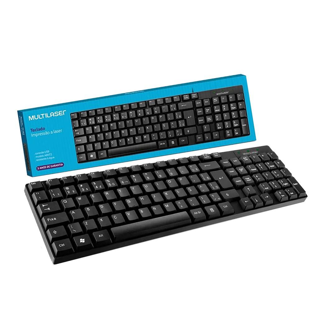 Teclado Básico Slim Usb PC Notebook Teclas Silenciosas Macia TC193