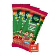 Bolinho s/ glúten sabor baunilha c/ recheio de morango zero linha kids 35g - Vitao - 01 cx c/ 12 un