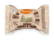 Bombom de chocolate branco c/ cookies'n cream zero - Flormel - un