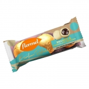 Bombom redondo branco recheado c/ chocolate cremoso - Flormel - un