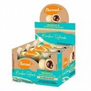 Bombom redondo branco recheado c/ chocolate cremoso - Flormel - cx c/ 10 un.