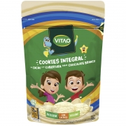 Cookie integral sabor cacau c/ cobertura de chocolate branco linha kids 80g - Vitao - 01 un
