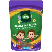 Cookie s/ glúten sabor cacau c/ gotas de chocolate zero linha kids 80g - Vitao - 01 un